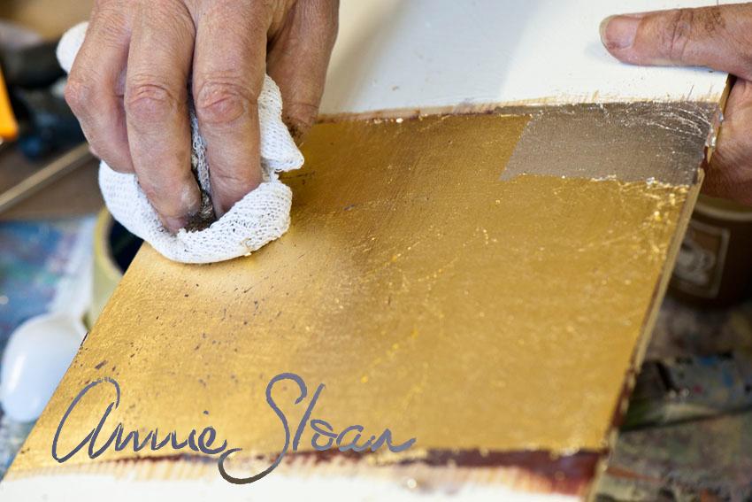 złocenie Annie Sloan szlagmetal warsztaty Lublin