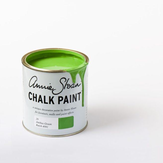 Farba 1L Antibes Green Chalk Paint Annie Sloan otwarta puszka 1L