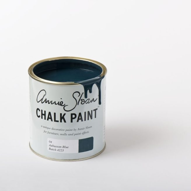 Farba 1L Aubusson Blue Chalk Paint Annie Sloan otwarta puszka 1L