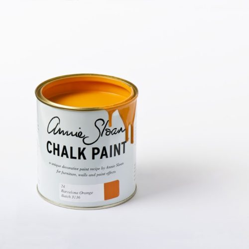 Farba 1L Barcelona Orange Chalk Paint Annie Sloan otwarta puszka 1L