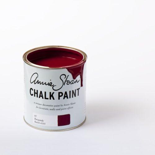 Farba 1L Burgundy Chalk Paint Annie Sloan otwarta puszka 1l