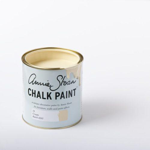 Farba 1L Cream Chalk Paint Annie Sloan otwarta puszka 1L