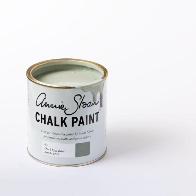 Farba 1L Duck Egg Blue Chalk Paint Annie Sloan otwarta puszka 1L