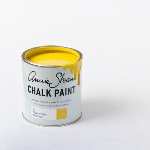 Farba 1L English Yellow Chalk Paint Annie Sloan otwarta puszka 1L