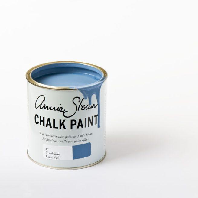 Farba 1L Greek Blue Chalk Paint Annie Sloan otwarta puszka 1L