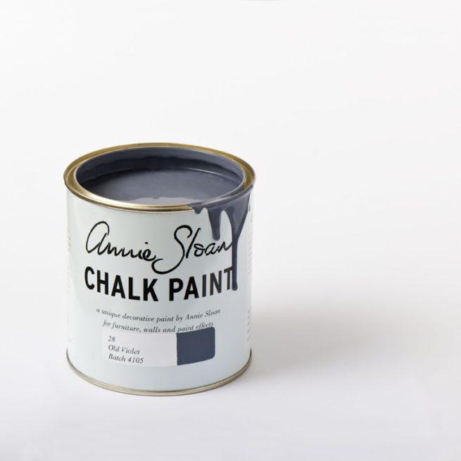 Farba 1L Old Violet Chalk Paint Annie Sloan otwarta puszka 1L