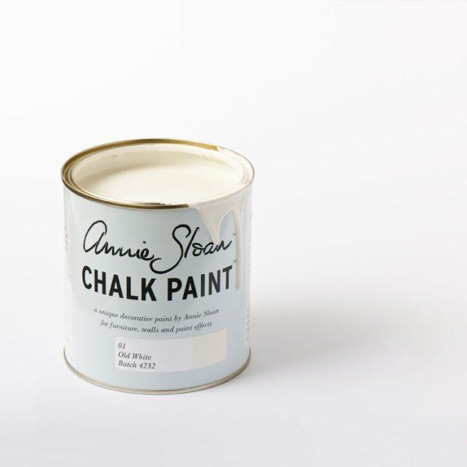 Farba 1L Old White Chalk paint Annie Sloan otwarta puszka 1L