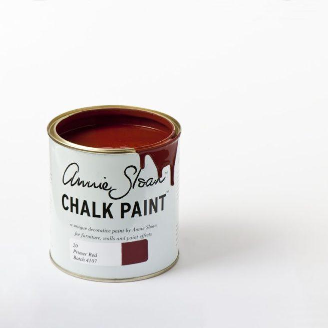 Farba 1L Primer Red Chalk Paint Annie Sloan otwarta puszka 1L