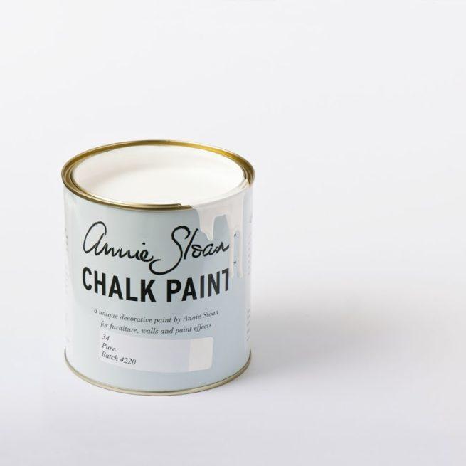 Farba 1L Pure (white) Chalk Paint Annie Sloan otwarta puszka 1L