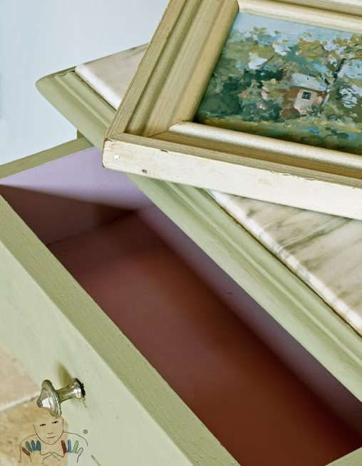 mebel pomalowany w kolorze Chateau Grey Chalk paint Annie Sloan