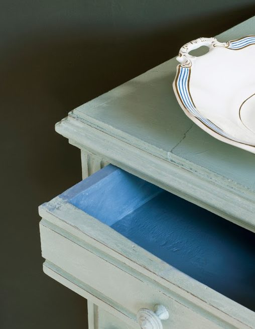 mebel pomalowany w kolorze Duck Egg Blue Chalk Paint Annie Sloan