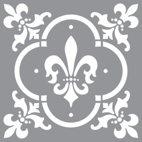 Szablon Fleur de Lis Tile