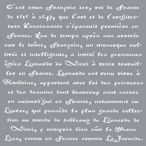 Szablon Old French Script