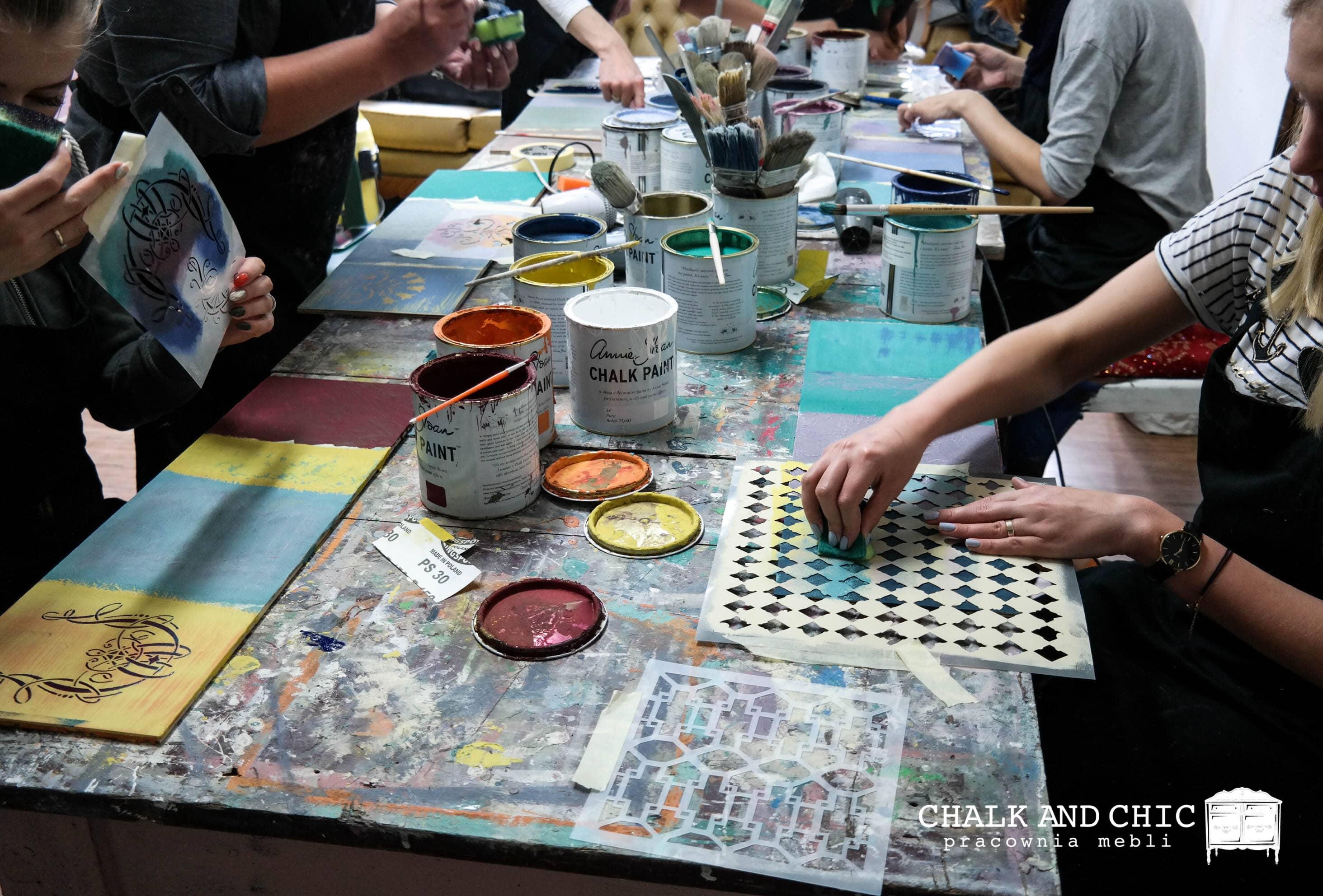 warsztaty odnawiania mebli w Lublinie Chalk Paint Annie Sloan