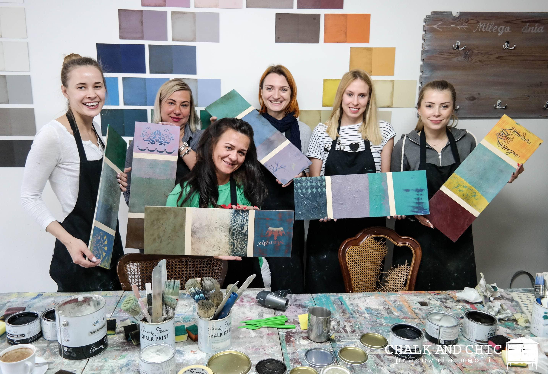 warsztaty z technik stylizcji farbami chalk paint w Lublinie