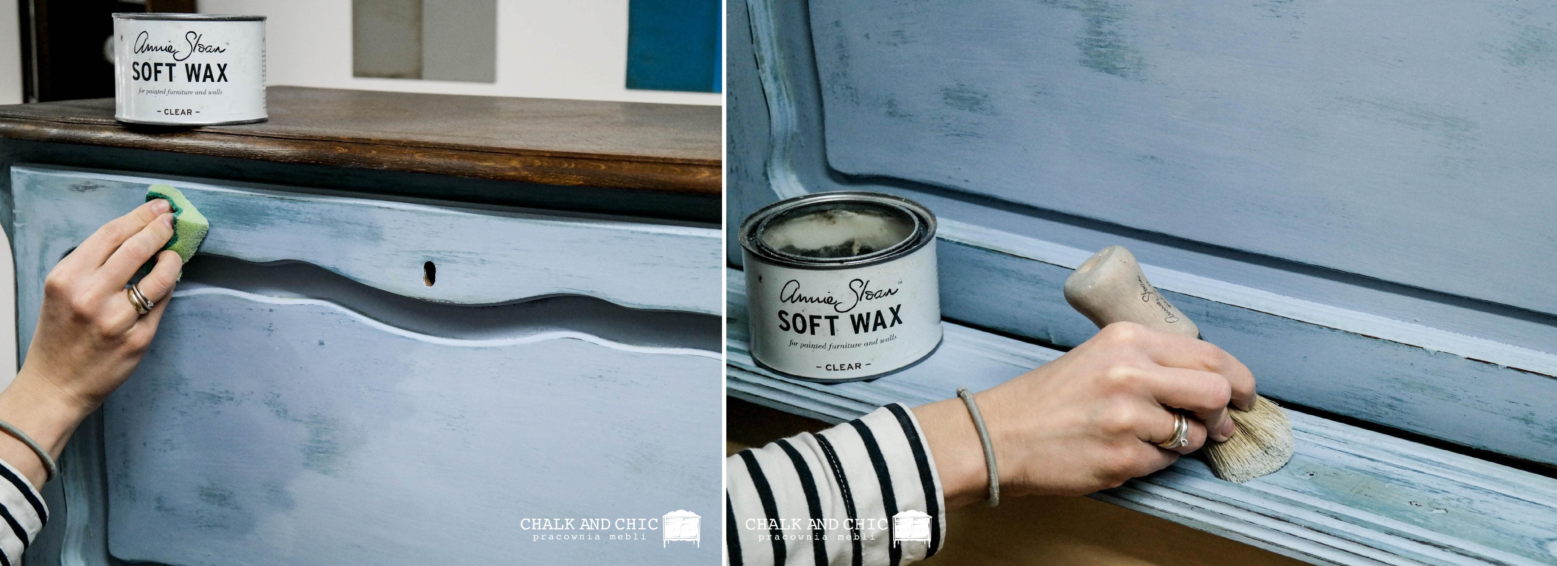 woskowanie powierzchni Clear Wax Annie Sloan