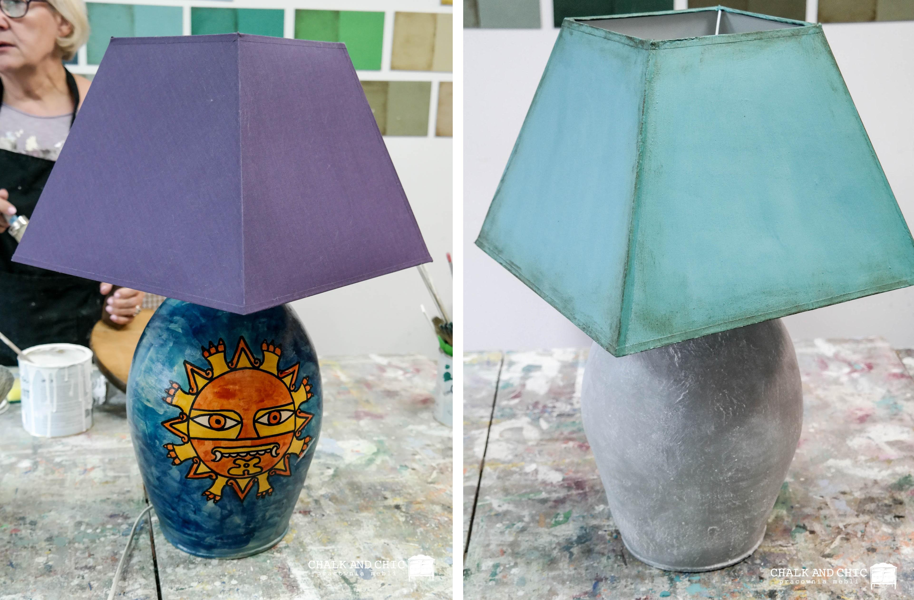 metamorfoza lampy lublin warsztaty malowania mebli