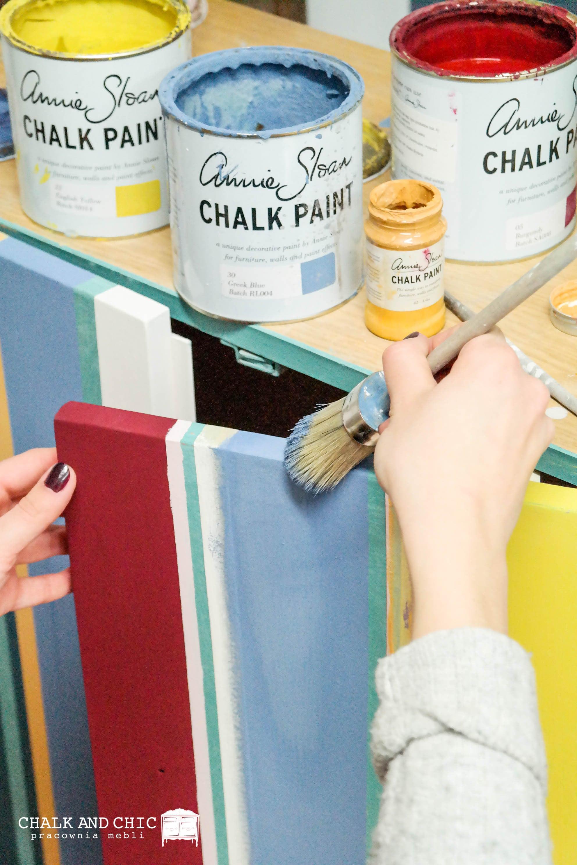 malowanie farbami kredowymi Chalk Paint Annie Sloan