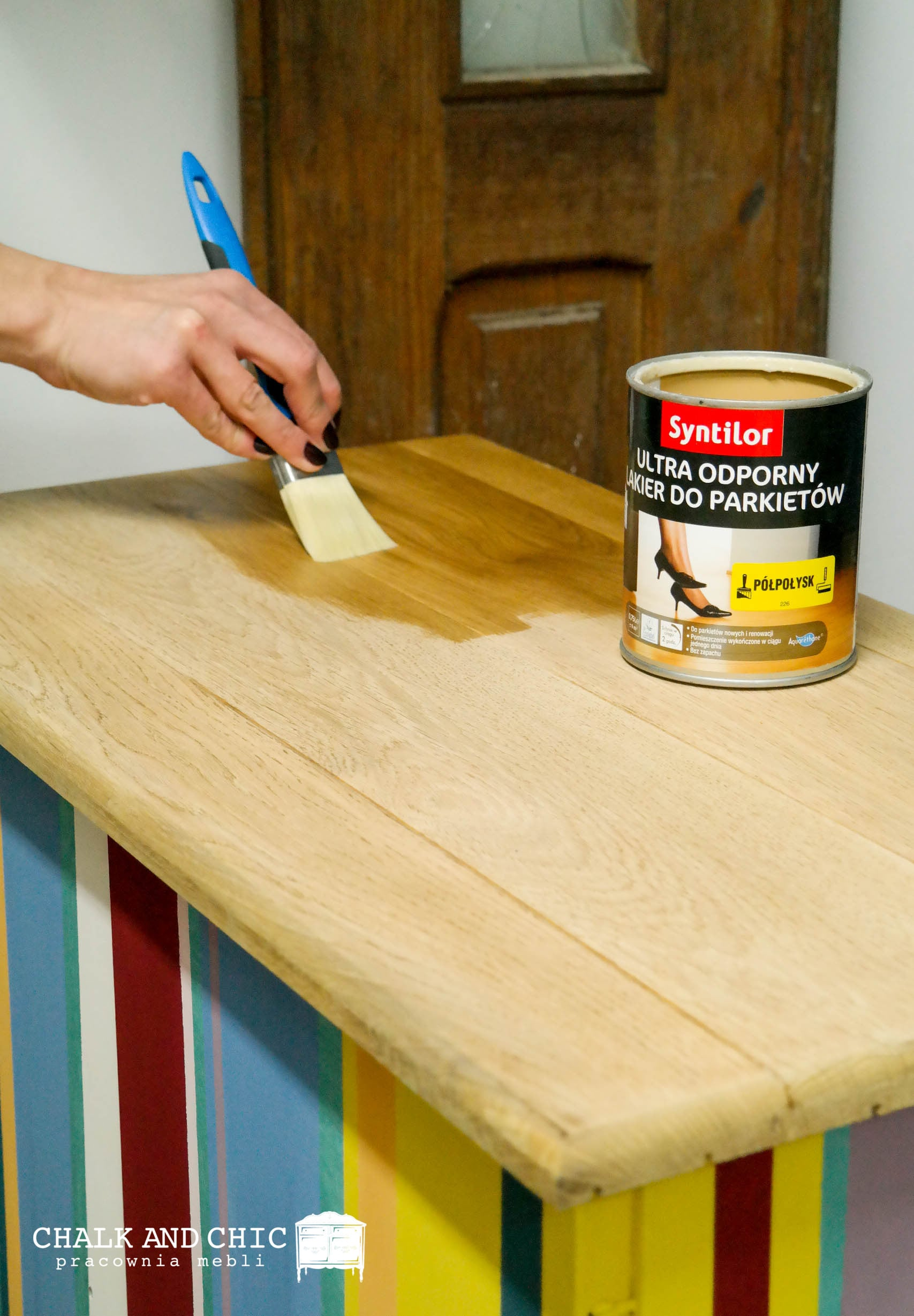lakierowanie blatu Lakier Syntilor Ultra odporny lakier do prakietów