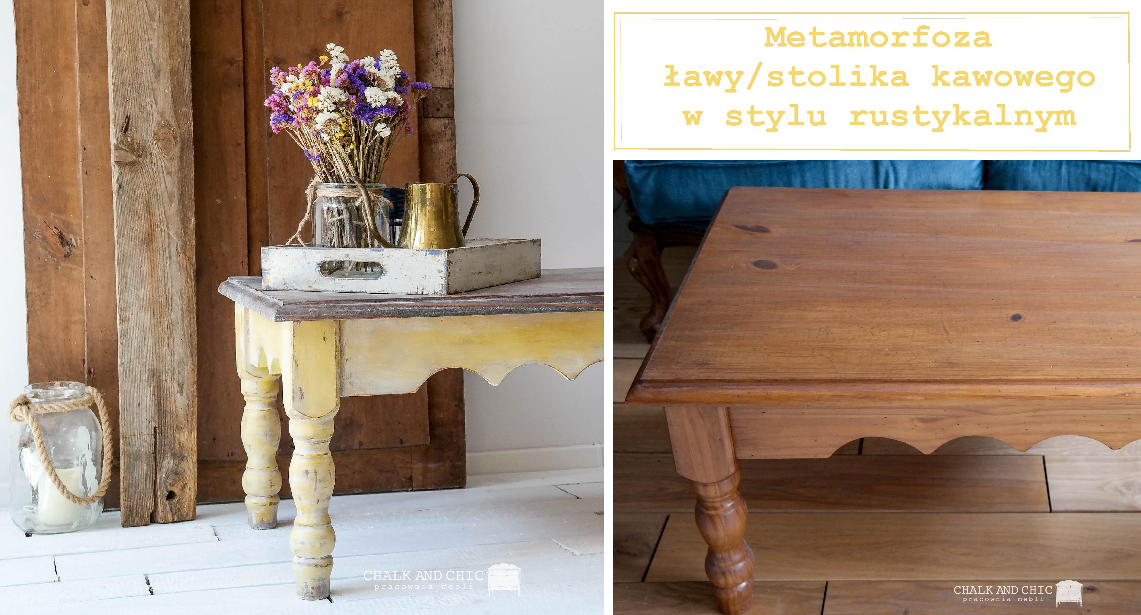 metamorfoza ławy/stolika kawowego w rustykalnym stylu