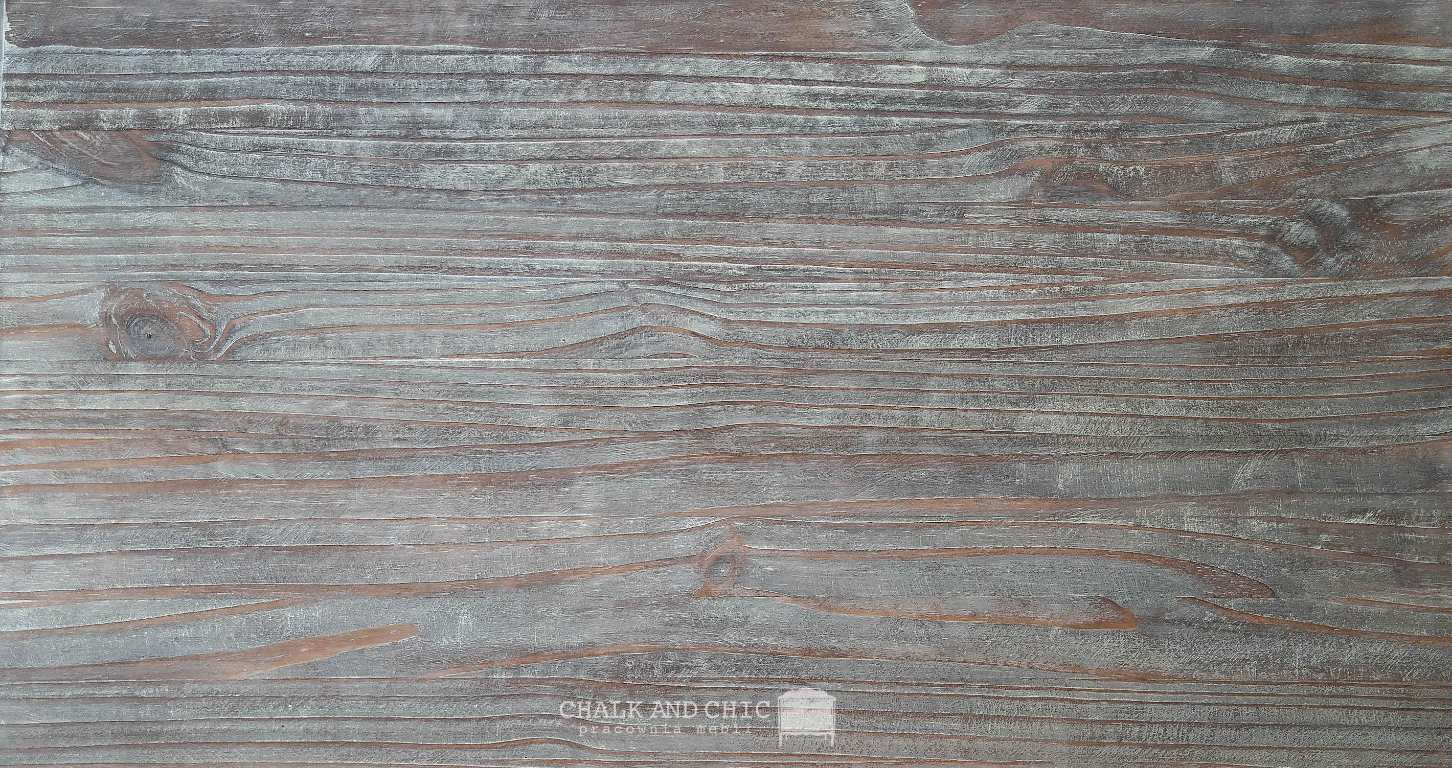 drewniany szczotkowany blat rozbielony
