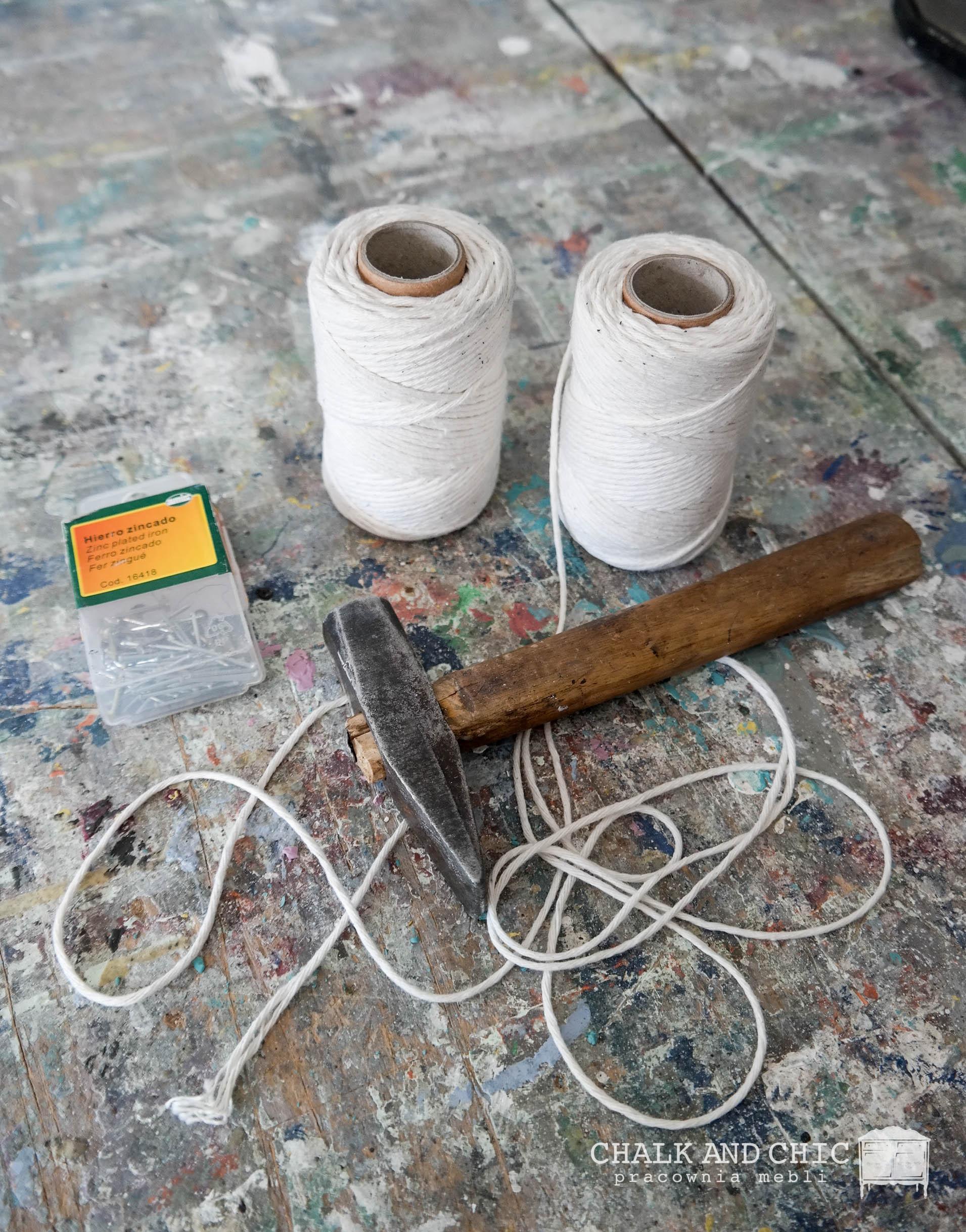 makrama krok po kroku potrzebne materiały