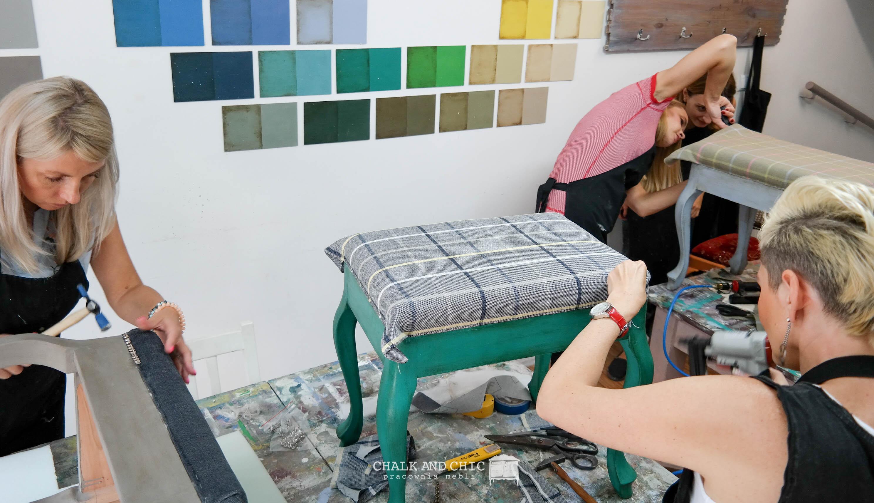 warsztaty tapicerskie zrób swoja pufę