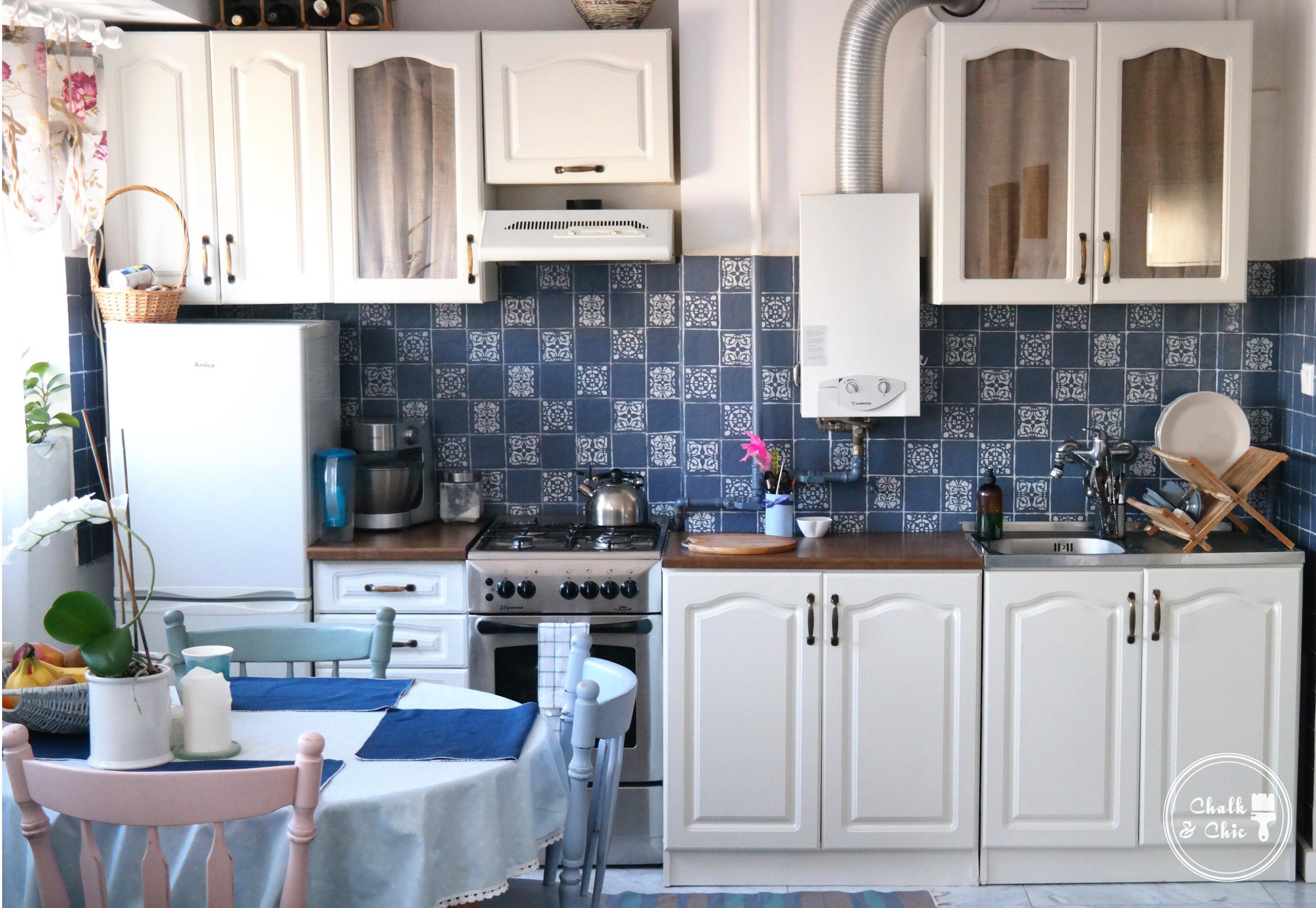 Metamorfoza kuchni pomalowanej farbami kredowymi CHalk Paint Annie Sloan