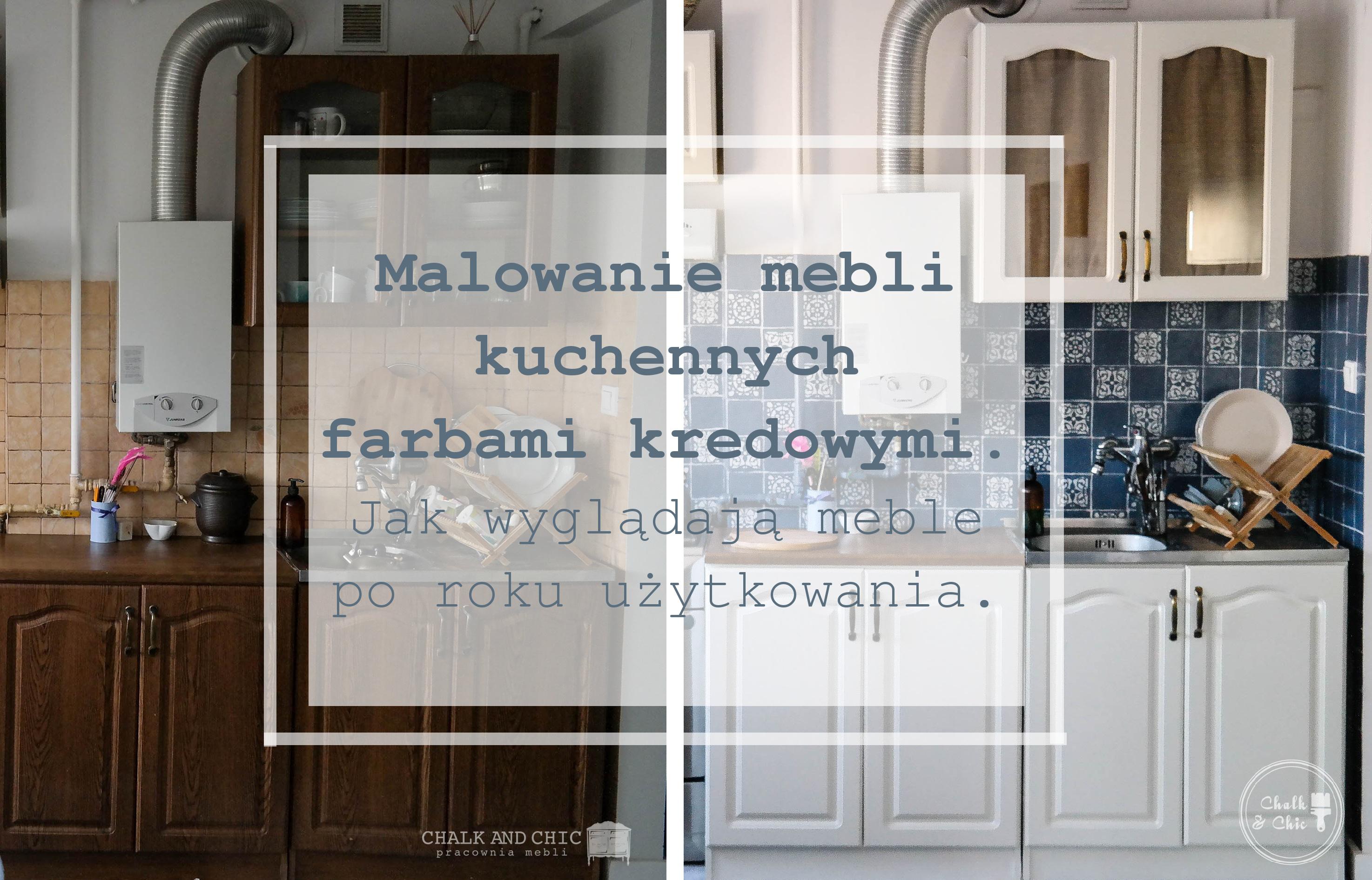 malowanie mebli kuchennych farbami kredowymi metamorfoza kuchni
