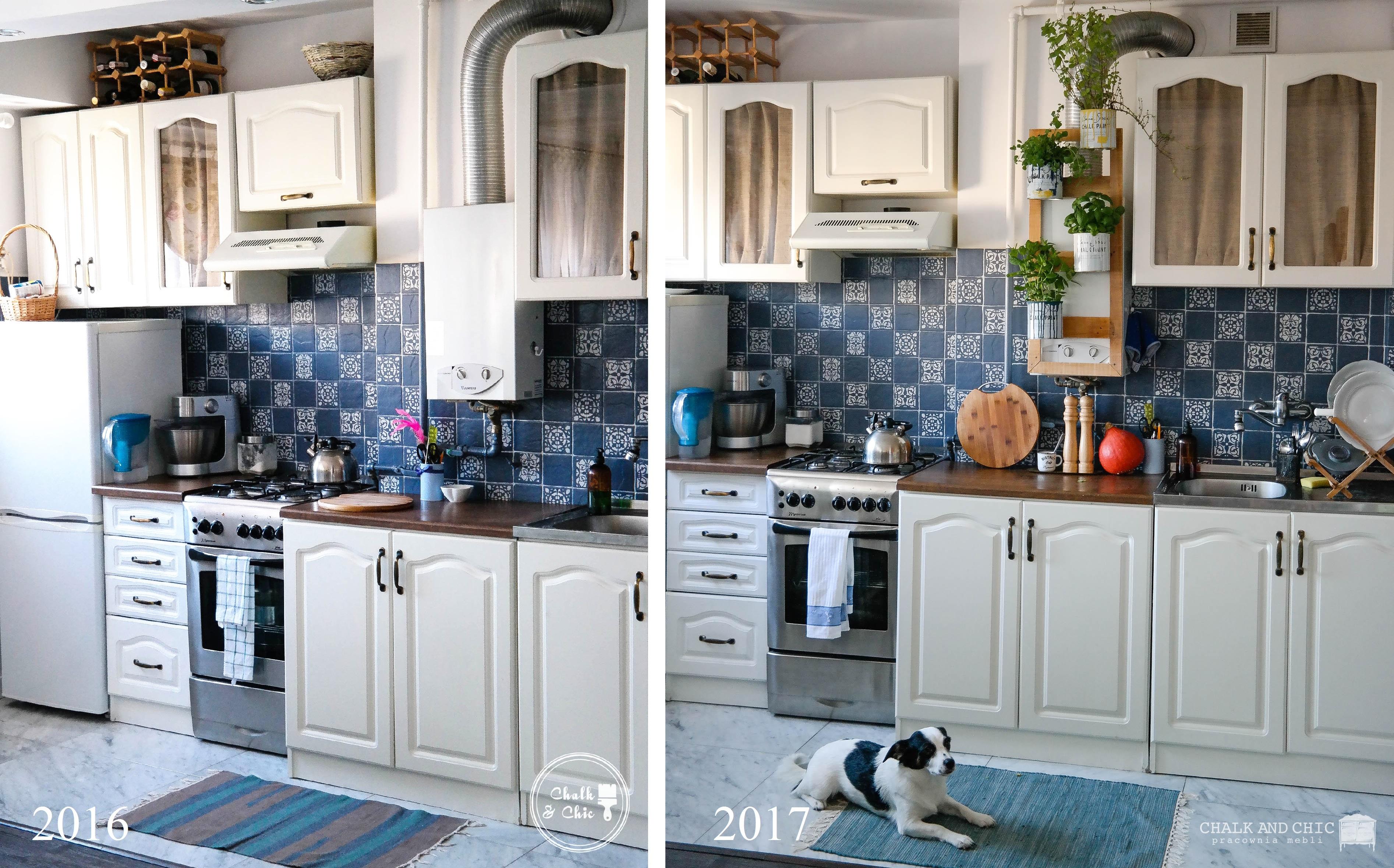 Kuchnia malowana farbami kredowymi po roku użytkowania