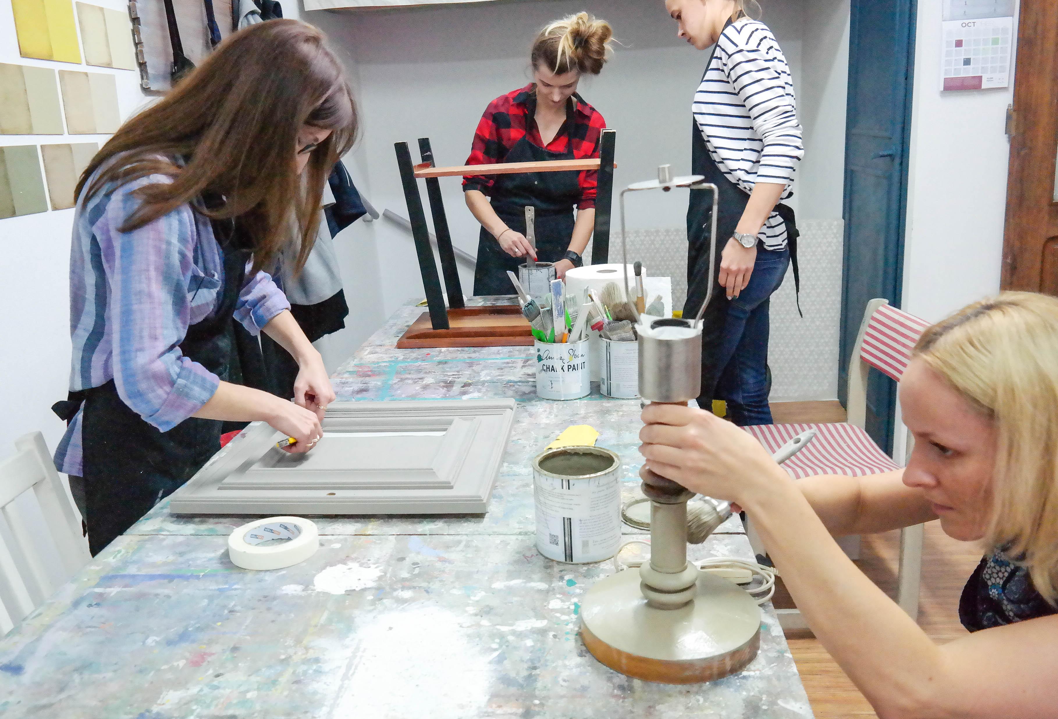 warsztaty malowania mebli Lublin