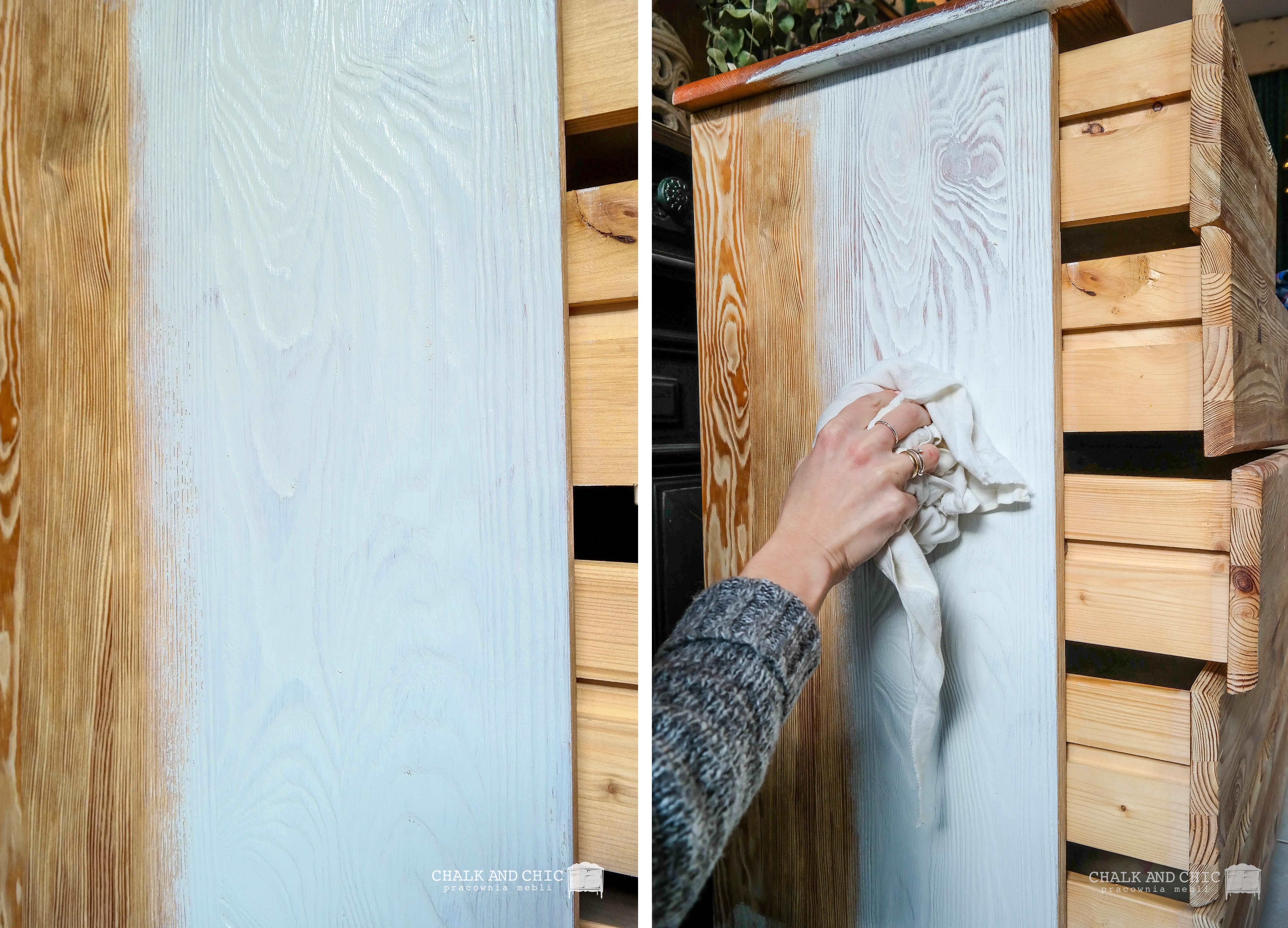 jak uzyskać efekt rozbielenia drewna