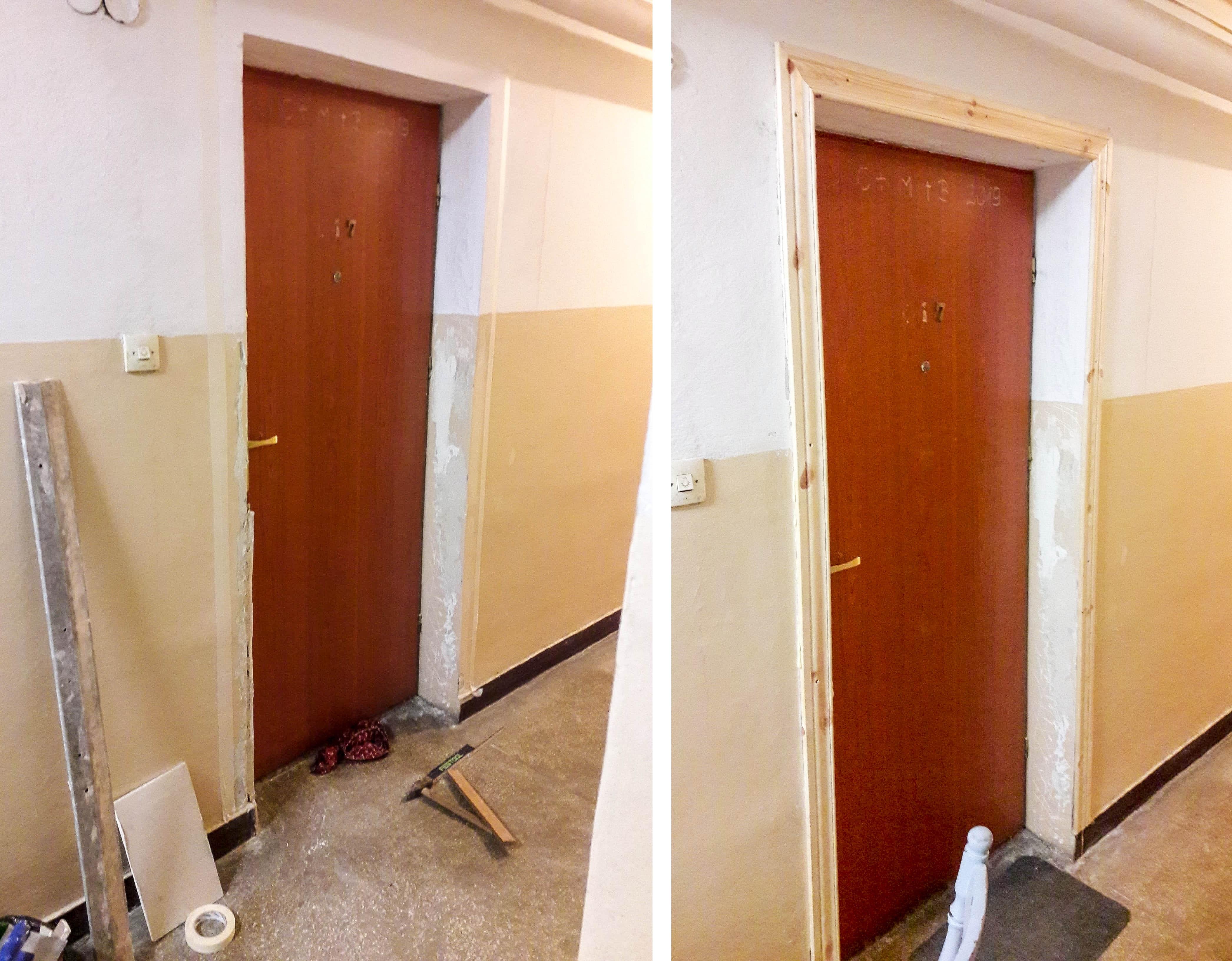 malowanie drzwi w bloku