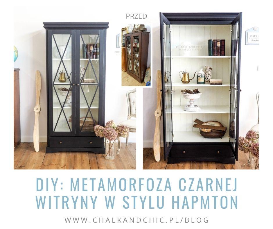 DIY: Metamorfoza czarnej witryny w stylu hapmton