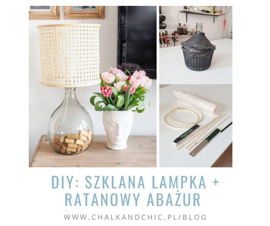DIY Szklana Lampka + ratanowy Abażur