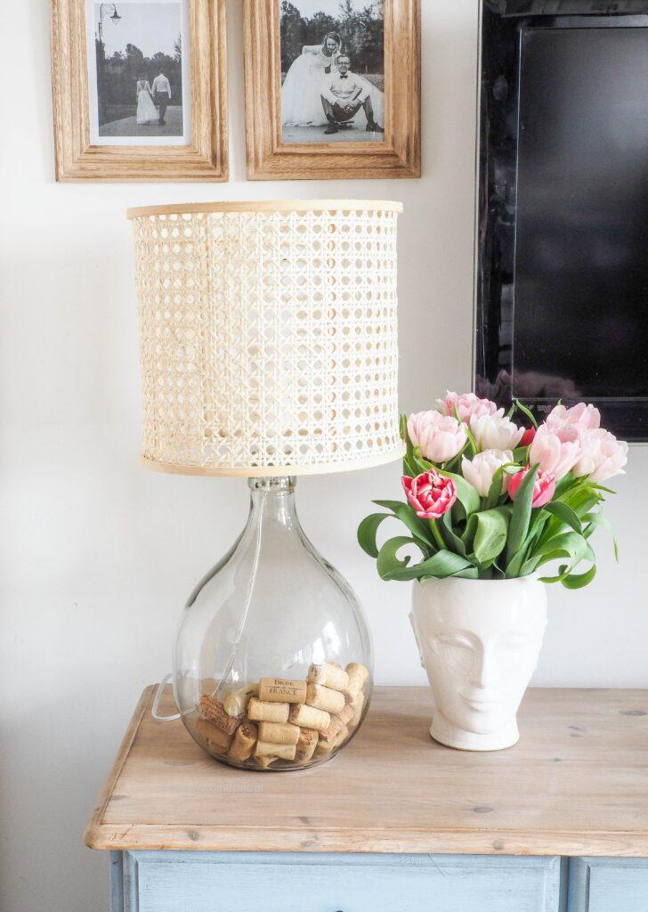 DIY Szklana Lampka + ratanowy abażur krok po kroku